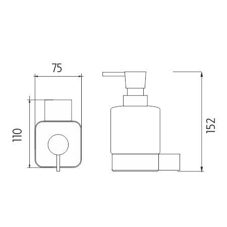 Dávkovač tekutého mýdla - Kibo
