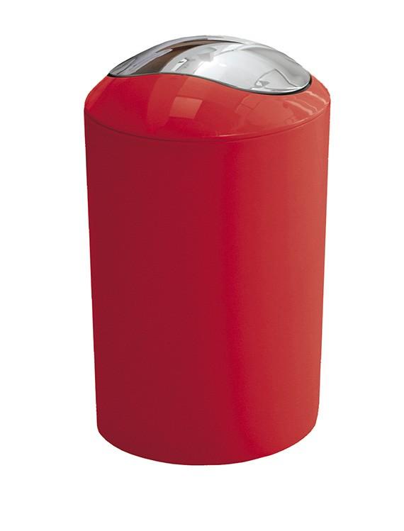 GLOSSY odpadkový koš výklopný 5l, červený (5063466858)