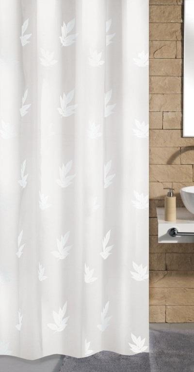CANTON sprchový závěs 180x200cm, polyester bílý (4994114305)