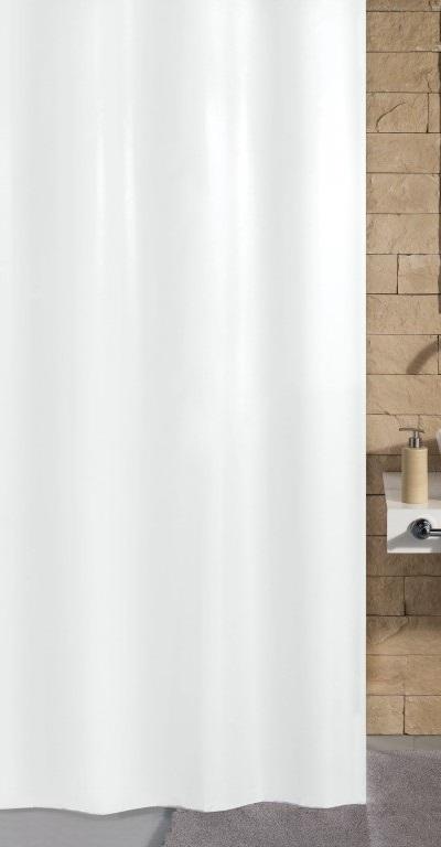 KITO sprchový závěs 120x200cm, polyester bílý (4937114238)