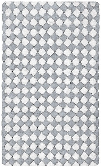 MERIDA koupelnová předložka 60x100cm, šedá/bílá (4036146360)