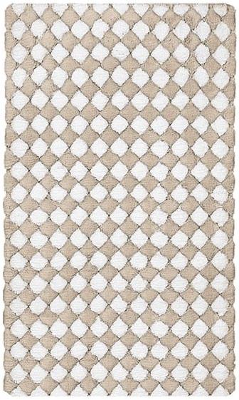 MERIDA koupelnová předložka 60x100cm, hnědá/bílá (4036271360)