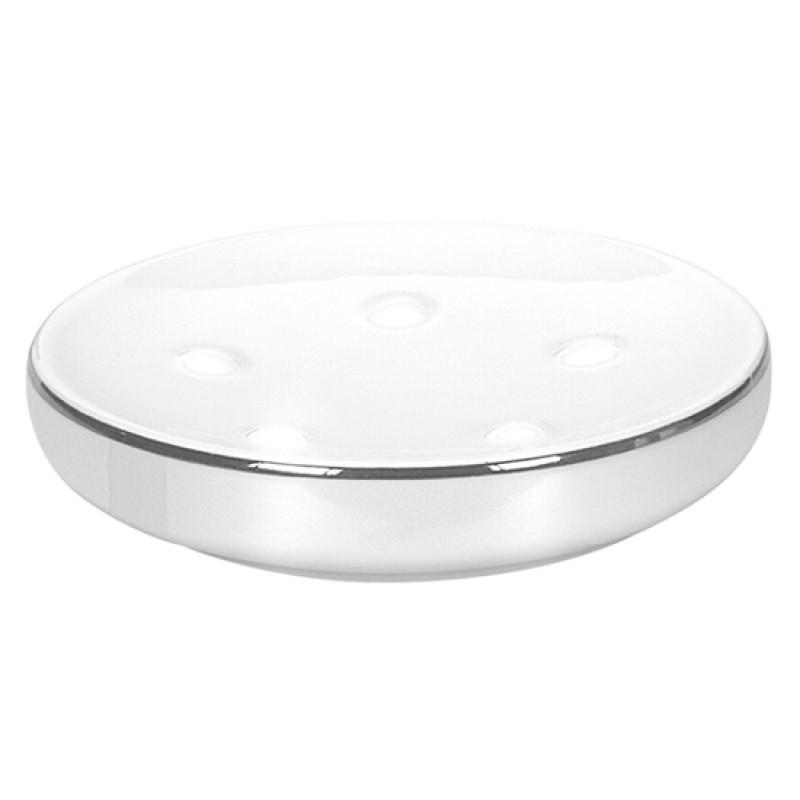 NOBLESSE mýdlenka na postavení, porcelán bílý (5075127853)